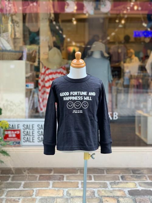 KIDS:NEEDLEWORKS STANDARD【ニードルワークススタンダード】Smile T-shirt(ブラック/80〜150cm)スマイルTシャツ