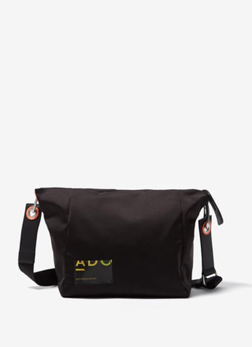 NYLON CROSSBODY BAG WITH ZIPPER CLOSURE