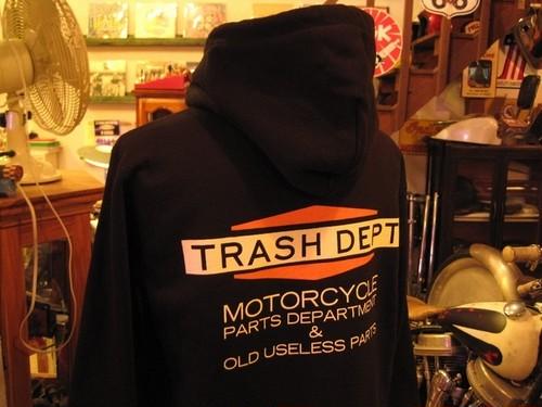 TRASH DEPT オリジナルパーカー タイプA ブラック