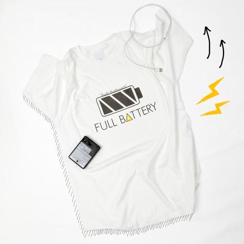 FULL BATTERY プリントTシャツ