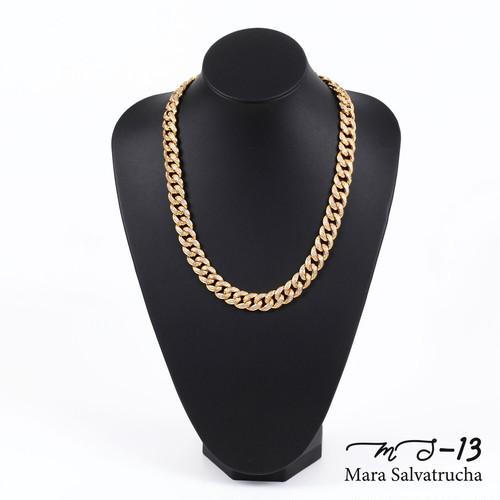 【MS-13】K18GP マイアミキューバン リンク ネックレス チェーン[長さ:50cm](ゴールド)