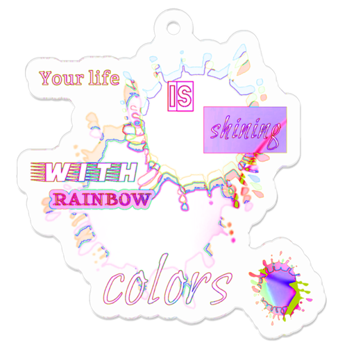 キーホルダー【Dye in rainbow colors】