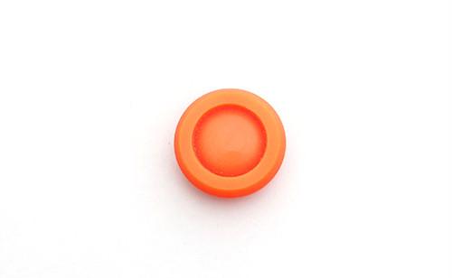 ヴィンテージ・ラウンドオレンジボタン