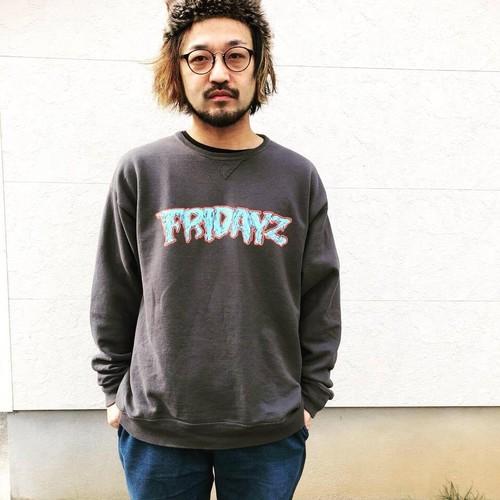 (残りMのみ)FRIDAYZ Dyed Crewneck Sweatshirt