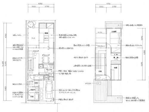 戸建住宅プラン作成(実際の敷地を見てプランを作成します)