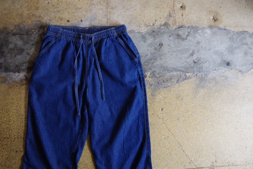 Denim cropped easy pants (USED)