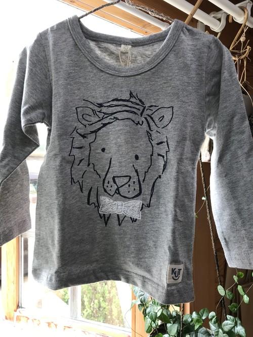 Kid's 長袖Tシャツ 100cm ライオン