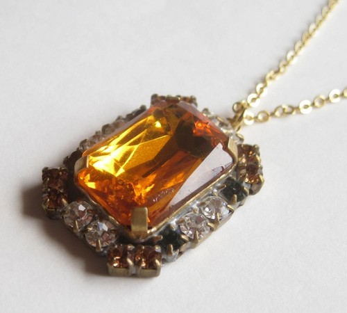 TheDelight antique Czech stone pendant(アンティーク チェコ ストーン ペンダント)⑩