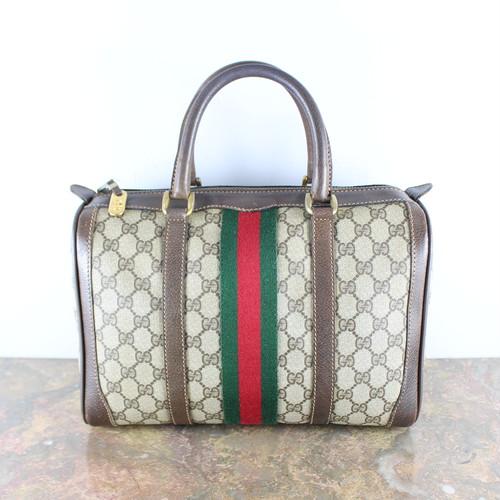 .OLD GUCCI SHERRY LINE GG PATTERNED MINI BOSTON SHOULDER BAG MADE IN ITALY/オールドグッチシェリーラインGG柄ミニボストンバッグ 2000000053714