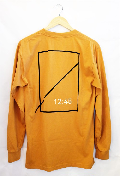 NUMBERS EDITION  LOGOTYPE L/S CAMEL ロングTシャツ ナンバーズ