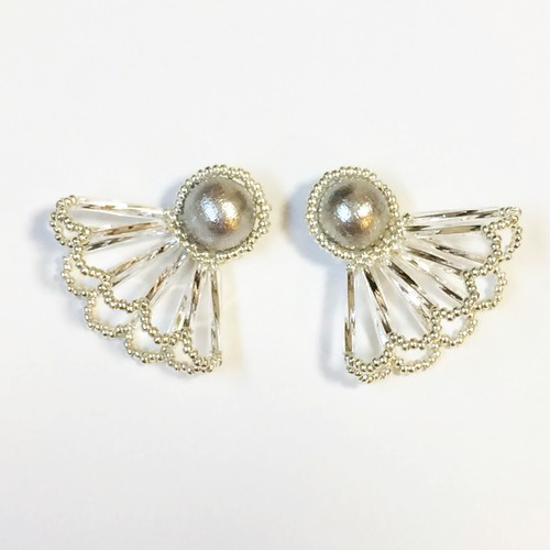 Pearl Lace Pierce/Earrings(Lサイズ)
