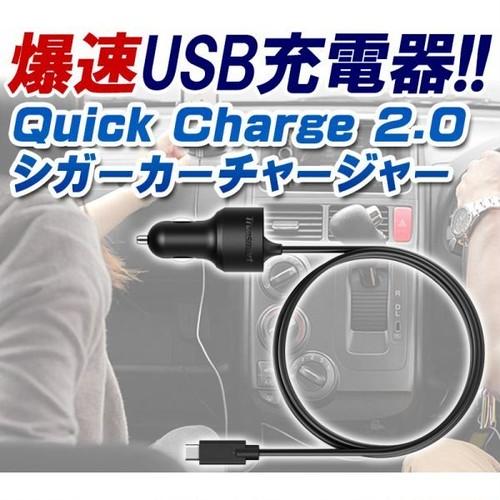 【iitrust】車載充電器 USB 2ポート ブラック Qualcomm Quick Charge 2.0 超急速充電対応D009-C-BLK