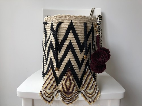 【Pre-order】Wayuu bag (ワユーバッグ) Luxe Line With Bead Art B