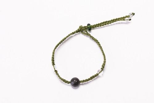 富士山溶岩ブレスレット[Lava Bracelet]〜 グリーン 〜