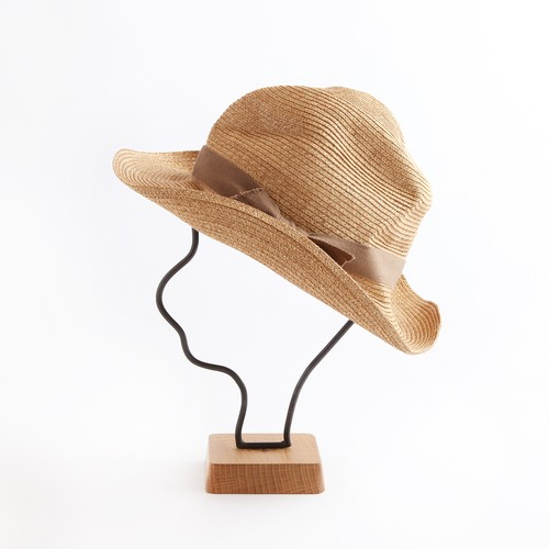 mature ha./BOXED HAT106 mixbrown×light brown