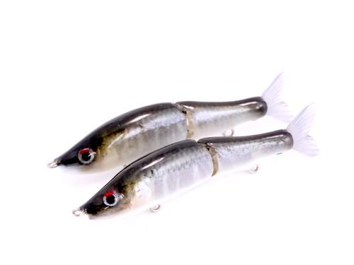 【フレッシュベイトルアーズ】剥製魚銀皮カスタム  ガンクラフト ジョインテッドクロー70F・オイカワ皮