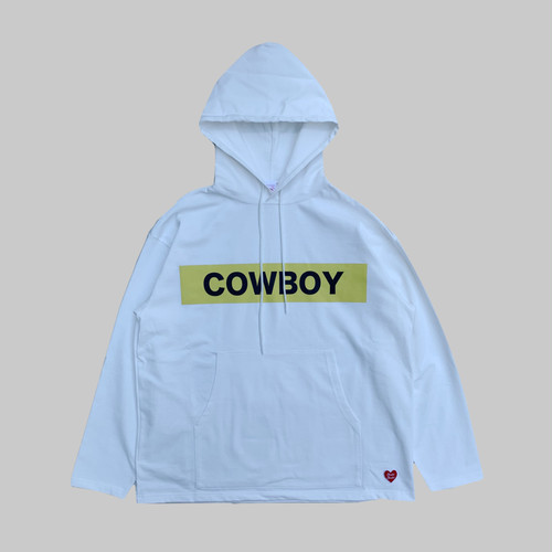 COWBOY Hooded L/S Tshirt -WHITE-
