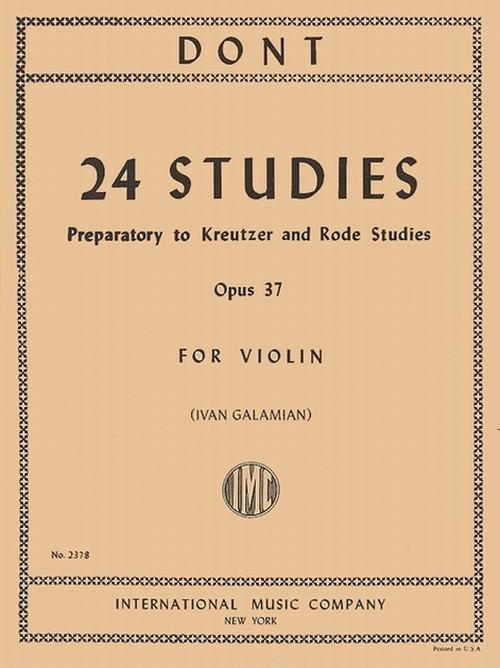 ドント:24の練習曲 Op.37 / ヴァイオリン教本