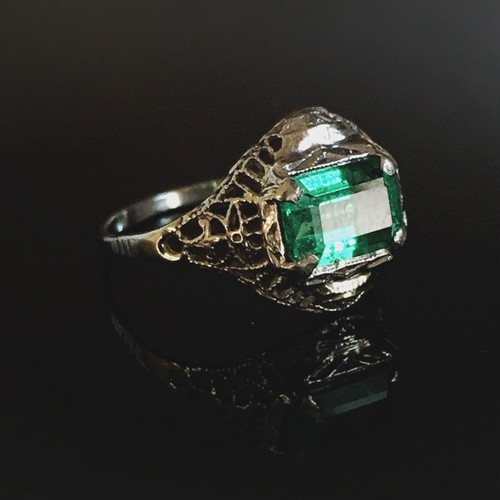 Turn of the Century Emerald Ring