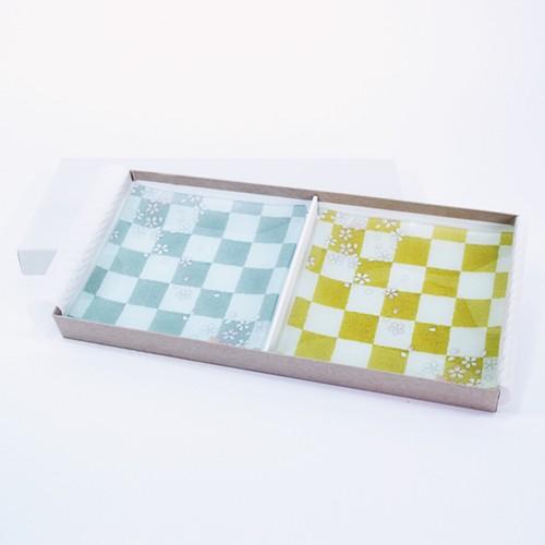 そめゆら「桜市松金銀」2枚入りギフトセット
