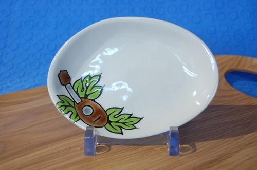 楕円小皿 ウクレレ パイナップルタイプ