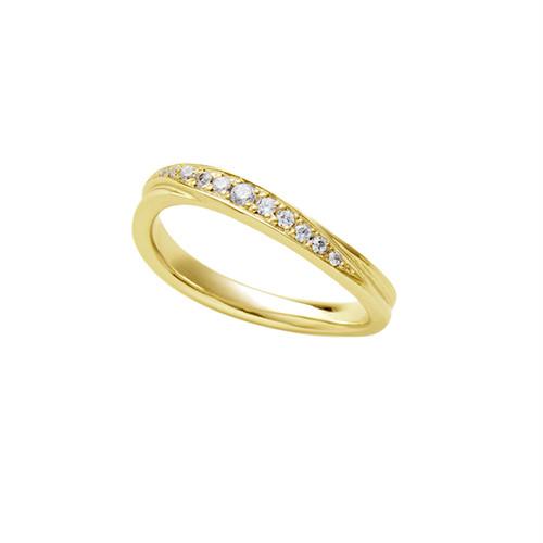 [約1ヶ月でお届け]レディース 2.8 mm幅 K18 結婚指輪 OCTAVE∞Chaleur~ぬくもり~「つたえる想いと こたえる想い」