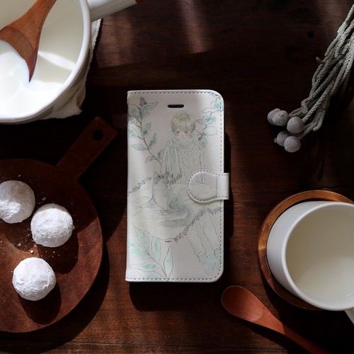 iPhone case:ivory milk(手帳型)
