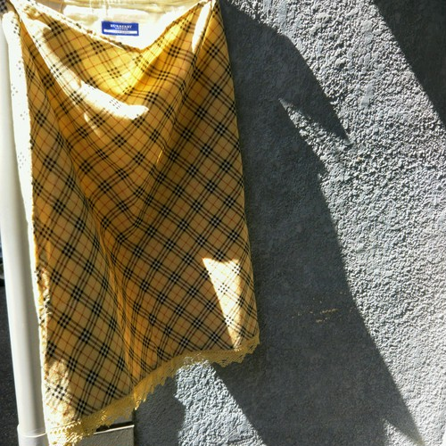 【& U】【BURBERRY  チェック×race cotton skirt】