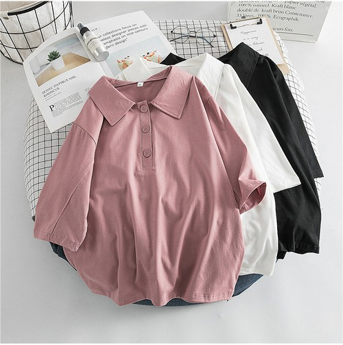 ポロシャツ  ベーシックスタイル  マストアイテム  POLOネック  半袖  Tシャツ・トップス