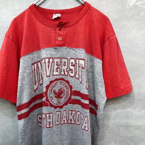 Champion Vintage ヘンリーネック Tシャツ  #1574