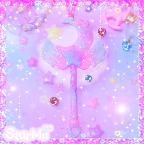 天使の羽のおつきさまステッキ♪