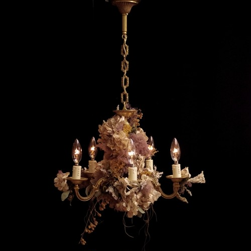 hydrangea white chandelier lamp france vintage