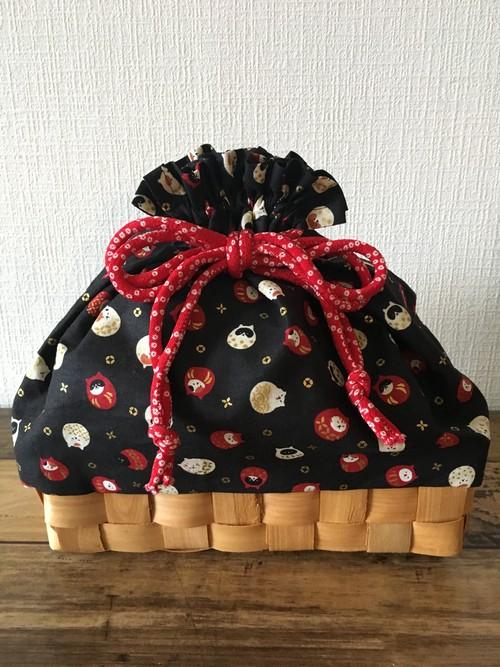 浴衣にぴったりな籠付き巾着バッグ【竹細工の大きなサイズ】