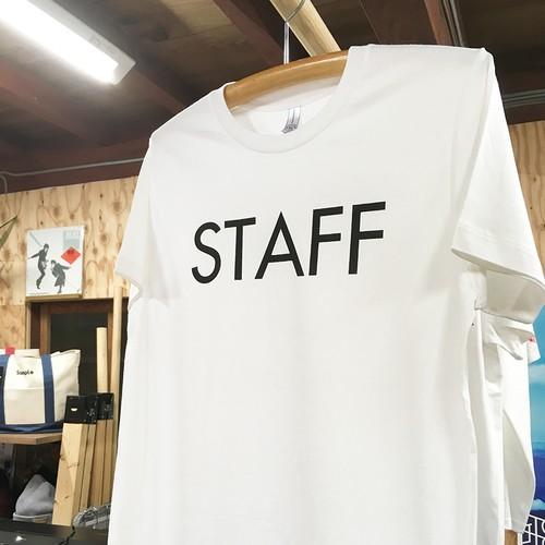 「STAFF TEE」 ベーシック スタッフTシャツ(プリント前面 or 背面 選べます)