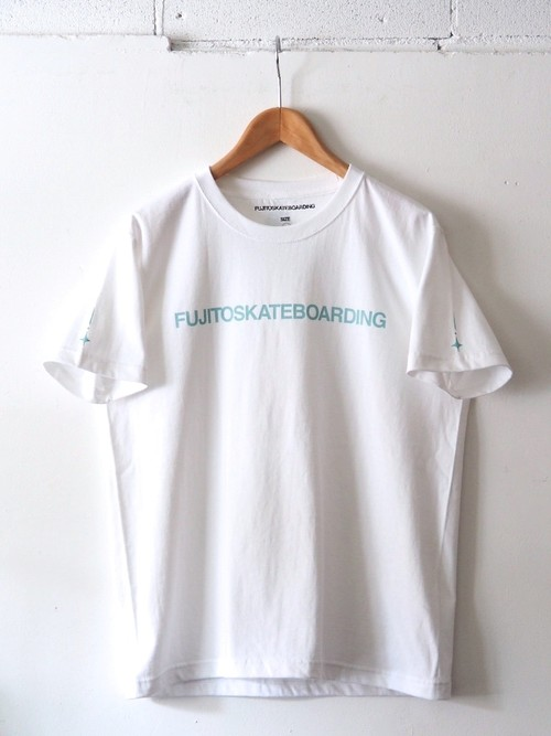 FUJITOSKATEBOARDING Print T-Shirt  Name ver. White,Black