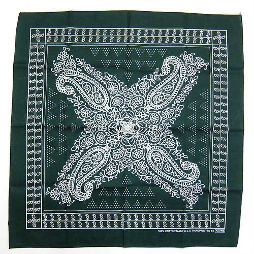 "FxCHRS Original Bandana ""BAND OF GYPSYS NO.2"", Dark Green"