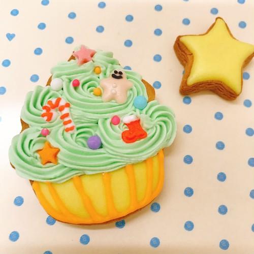ツリー風カップケーキ