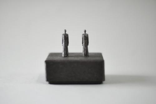 (091)  pewter figure-mini 2つセット 箱入