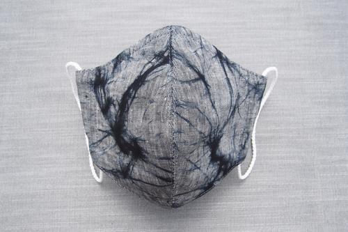 Batik linen mask(内側Hemp)