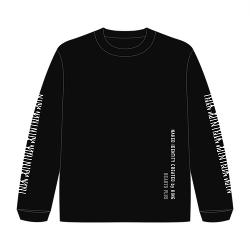 【Naked Identity Created by King×Hearts コラボT】 Long sleeve Black