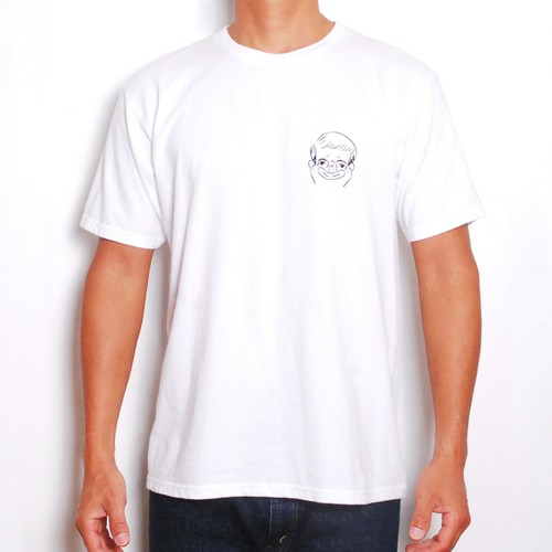 MOUNTAIN × GAKIYA ISAMU Tシャツ / Surf boy  / White