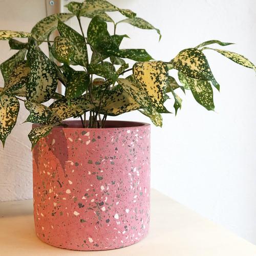 "Cement flower pot cover /FARM""Marta"" 鉢カバー(Pink) φ17cm×H16cm"