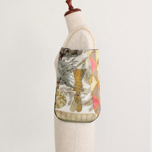 【一点もの】No.15スカーフで作ったプチバッグ
