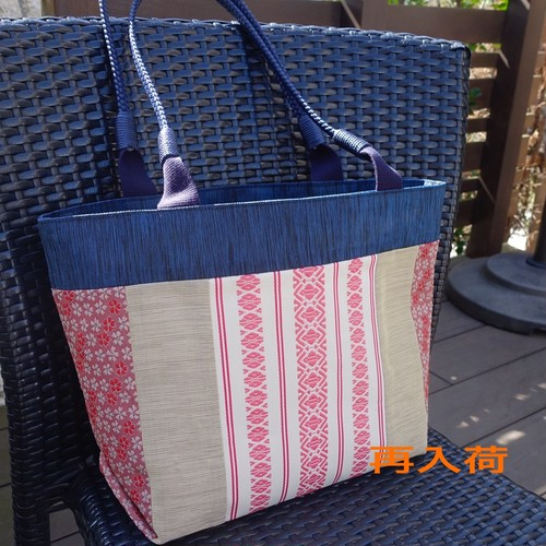 博多帯&桜柄 畳へりバッグ!