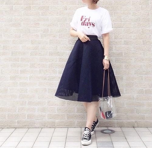 【即納商品】メッシュデザインスカート(b_3)