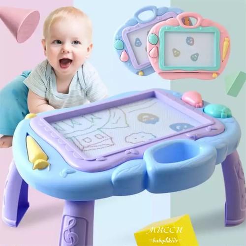 送料無料!【即納】テーブル付きお絵描きボード 赤ちゃん 出産祝い 男の子 女の子 兄弟 姉妹 双子 お誕生日 クリスマス プレゼント