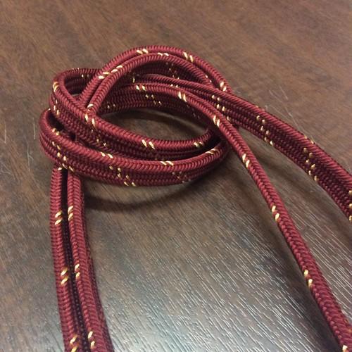 ボルドー系☆金糸の斜めストライプ帯〆【レターパックOK】
