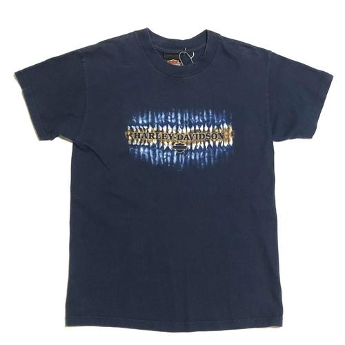 2002年製 Hanes BEEFY-T ハーレーダビッドソン ヴィンテージ Tシャツ ネイビー 紺 実寸Sサイズ BOYS Lサイズ