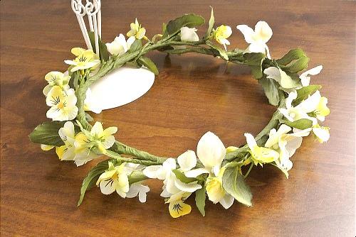 ビオラの花冠