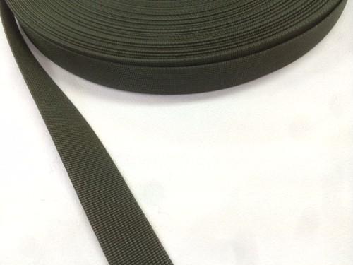 サコッシュなどに最適な ナイロン ベルト 高密度 15mm幅 1mm厚 カラー 1m